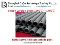 Wholesale Refractory Silicon carbide square pipe refractory kiln furniture supplier China Silicon carbide tube refractory kiln furniture supplier