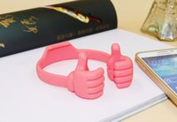 Wholesale promotion funny silicone thumbs phone holder ok stand