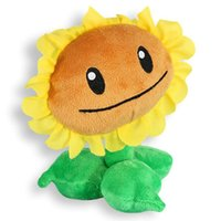 Wholesale Plants vs Zombies Sunflower Plush Toys Doll Cute Plants vs Zombies Soft Stuffed Plush Toys girasole di peluche