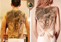 Wholesale 10 Fashion Designs Waterproof Flash Tattoo Large Metallic Temporary Tattoo Sticker for Back
