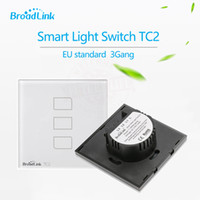 Wholesale Smart Home BroadLink TC2 gang RF Mhz Wall Light Switch Wireless Control By e control single live wire connection