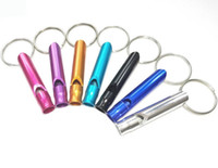 Wholesale Outdoor Hiking Camping Aluminum Metal Emergency Survival Whistle Life saving Whistle Key Chain With Ring