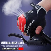 Wholesale Non Slip Breathable Bike Gloves Mens Women s SummerBicycle Short Gloves Cycling Cycle Gel Pad Short Half Finger Gloves