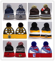 Wholesale NHL Ice Hockey Caps Sports Team Hats Fashion knitted Beanies with Pittsburgh Penguins Chicago Blackhawks Toronto Maple Leafs Styles New