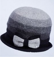 Wholesale Fashion edge qiu dong female autumn warmth about han edition wool hat hat hat ms gradients