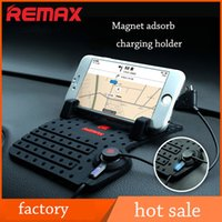 Wholesale Remax Car Adjustable Bracket Connector Magnetic car phone Holder Mounts With Charging USB Cable For iPhone s xiaomi Samsung