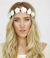 Wholesale Dropshipping Lady elastic hair band Bride Bridesmaid wreath headdress hair beach tourism flowers Pictures