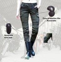 Wholesale 2016 Uglybros MOTORPOOL Jeans ocio motocicletas del montar a caballo vaqueros equipados con el equipo de protección UBP ArmyGreen relajad