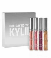 angels mix - Kylie Jenner holiday collection set low price Chrismas Edition lip kit Gold Metal Matte lipstick noel blitzen angel free ship DHL