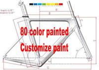 achat en gros de tailles de cadres sur mesure-Peinture personnalisée OEM 80 couleurs F10 carbone Road MTB cadre vélo Cadre de vélo en carbone à cadres SIZE 59CM