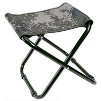 Wholesale Portable folding stool in many outdoor durable train car camping equipment military camouflage fishing leisure adult folding stool