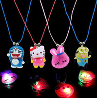 Wholesale LED Light Necklace Flash Necklace Shine Love Star Moon Butterfly Necklace Mix multiple styles YH372