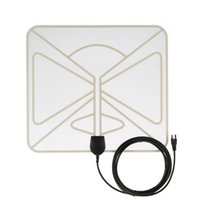atsc digital antenna - Flat HD TV Digital Indoor Antenna HDTV High Gain Miles Range ATSC DVB ISDB with ft High Performance Coax Cable V2672