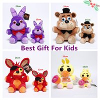 Wholesale Best Christmas Gift for kid pc Game CM Five Nights at Freddy s Plush Bonnie Foxy Freddy Chica Fazbear Fever Plush Toy Stuffed Soft Dolls