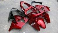 achat en gros de kit carrosserie zx9r-Carénage ABS de rechange pour Kawasaki ZX-9R 1998-1999 ZX9R 98 99 rouge Kit carrosserie moto