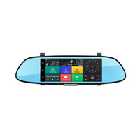 big antennas - 7 inch big screen Andrews car rearview GPS mirror navigator rearview mirror driving recorder reverse image Can be surfaced with Bluetooth
