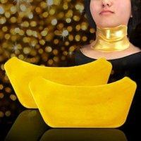 Wholesale Anti Aging Anti Wrinkle Whitening Moisture Moisturizing Puffiness Gold Crystal Collagen Skin Neck Mask
