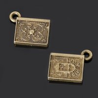 bags bibles - New bag mm Antique Bronze Plated Zinc Alloy Bible Charms Pendants For DIY Jewelry Making Findings