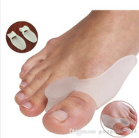 Wholesale Silicone Gel Bunion Splint Big Toe Separator Overlapping Spreader Protection Corrector Hallux Valgus Foot Massager b647
