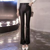 aa wear - Hug Me New Women PU Pants New The coating wear leggings with Velvet Pants AA