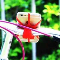 Silicone Rubber Bike Phone holder Strap bicycle gps navigator - Cheap Bike Bicycle Silicon Band Mobile Phone Strap GPS Navigator Mount Holder Cradle less for Iphone s plus
