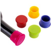 Wholesale Silicone Wine Bottle Stoppers Approved Food Grade Silicone Durable Flexible Bottle Stopper for Beer Wine Cooking wine Coke stoppers plugs