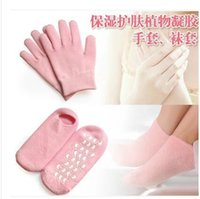Wholesale Spa Gel Socks Gloves Moisturizing Whitening Exfoliating Socks Smooth Beauty Hand Foot Care Socks for Pedicure Exfoliating