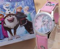 Wholesale Cartoon Lovely Kids Girls Boys Children Students Frozen Quartz Wrist Watch Very Popular have gift box