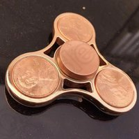 big dollar - Inlaid US Dollars HandSpinner Fingertips Spiral Fingers Decompression Toys Hand Spinner Stainless Steel Desk Focus Toy High Copy OOA1150