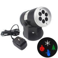 Wholesale NEW AC90 V W Rotating LED Laser Stage Projector LED Spotlight Sound Activated Christmas Light for Party KTV Pub Bar Xmas
