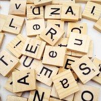 alphabet letter games - Set Educational Burlywood Color Wooden Alphabet Scrabble Tiles DIY Black Letters Numbers Crafts Baby Kids Toys Game Gifts