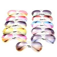 aviator gold - Fashion Aviator Sunglasses Unisex Double Color Gradient Lens Beach Sunglasses Gold Metal Frame Huge Glasses Eyewear New B0623