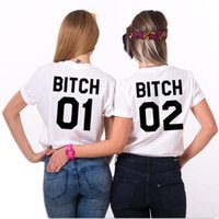 Women best womens white shirts - Best Friends T Shirt Bitch Bitch Letter Print Womens T Shirt Tops Funny Shirts For Lady Black White Casual Tshirt Femme