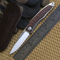 alloy washers - CR Mnandi M390 Blade snake wood TC4 Titanium handle folding knife Copper washer hunt camp Pocket Survival EDC Tool knives