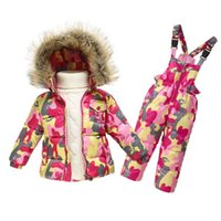Wholesale 2PCS Set Kids Clothes Down Jacket Rompers Sport ski suit Girls Boys Clothes Toddler Baby tracksuit Winter children clothing