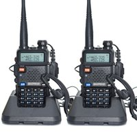 Wholesale 2pcs Baofeng UV R Walkie Talkie Dual Band UHF VHF MHz MHz Baofeng UV R Portable Radio W Two Way Radio