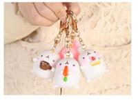 Wholesale New creative Korean cute potato rabbit car decoration rabbit key ring couple bag small pendant cartoon ornaments