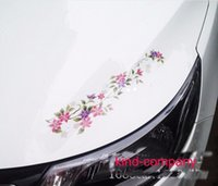 auto racing seat - 2pcs seat truck vehical motor racing Car sport power auto flower colored head Vinyl emblem sticker Decals FOR motor hood side