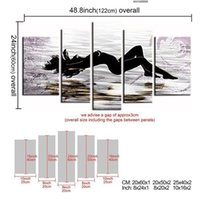 beach beauty pictures - Hand Painted Beauty Sea Beach Abstract Nude Women Stretched Framed Panels Canvas Oil Painting Ready to Hang