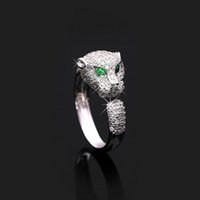 Wholesale 925 Sterling Silver Engagement Rings For Women Valentine s Day Gifes Hot Sales Leopards Two Color