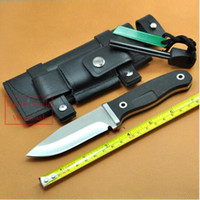 ats outdoor - Hunting Fixed Knife ATS Blade G10 Handle Camping Knife Outdoor hunting Knives Leather Sheath Flintstones