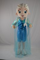 Wholesale Christmas NEW frozen elsa princess Mascot Cartoon Costume Character Customize Adult fancy dress party