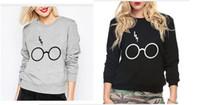 Wholesale new women sweatshirt Harry Potter Glasses Lightning Printed sweatshirts Harajuku brand hoodies autumn femme fashion suit