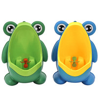 Wholesale Kids Urinal Potty Training Baby Boy PP Frog Children Stand Vertical Urinals Wall Mounted Training Toilet for Kids Blue Green Color