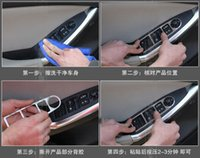 Wholesale Chrome Armrest Button Decoration Frame Interior Moulding Parts Refit For MAZDA CX CX5 set Car Styling