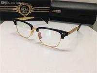 Wholesale HOT SALE prescription eyeglasses DITA STATESMAN THREE men brand designer retro vintage Titanium frame gold optical glasses top quality