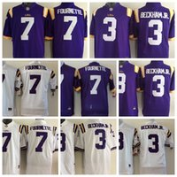 Wholesale 2017 kids LSU Tigers Football Jerseys Odell Beckham Jr Leonard Fournette LSU Tigers youth boys child Jerseys