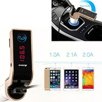Wholesale 4 in Hands Free LED Bluetooth A Car FM Transmitter Handsfree Car Kit MP3 Music Player Radio Adapter With Single USB Car Charger