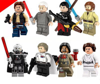 Wholesale 480pcs PG8024 Star Wars figures Han Solo Palpatine Obi Wan Sith Lord Orson Baez Princess Leia Special children Gift
