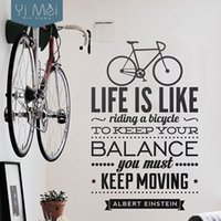 bicycle quotes - Life Is Like Riding A Bicycle Quote Sport DIY Vinyl Art Wall Stickers Wallpapers for Bedroom Living RoomHome Decor60x95CM